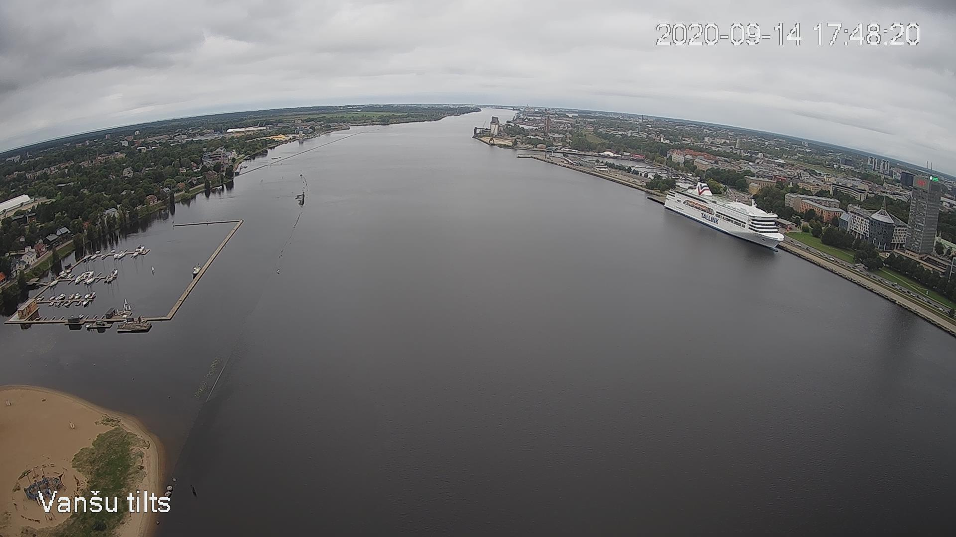 Webcam in port of Riga